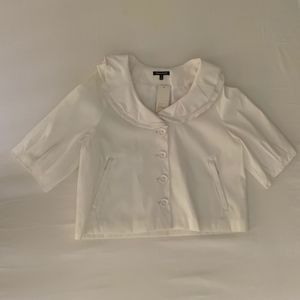 Samuel Dong Cream Dress Jacket 3/4 sleeve - M NWT